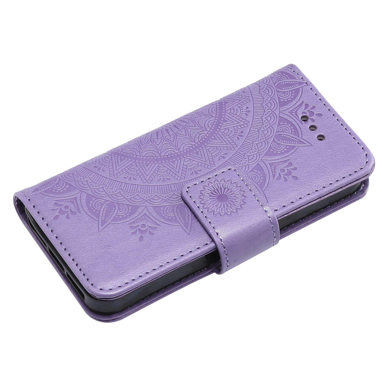 iPhone 5C Case LOHHA11312 Blue Lomogo Leather Wallet Case with Kickstand Card Holder Shockproof Flip Case Cover for Apple iPhone 5C
