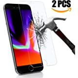 Protection d'écran iPhone 8 plus/iPhone 7 plus, KKtick iPhone 8 plus verre trempé [2 pièces][Easy-Install][Résistant aux rayures] Ultra Claire Film protection pour Apple iPhone 8 plus-Transparent
