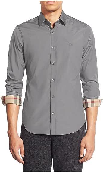 BURBERRY BRIT - Camisa casual - para hombre gris S: Amazon.es: Ropa y accesorios