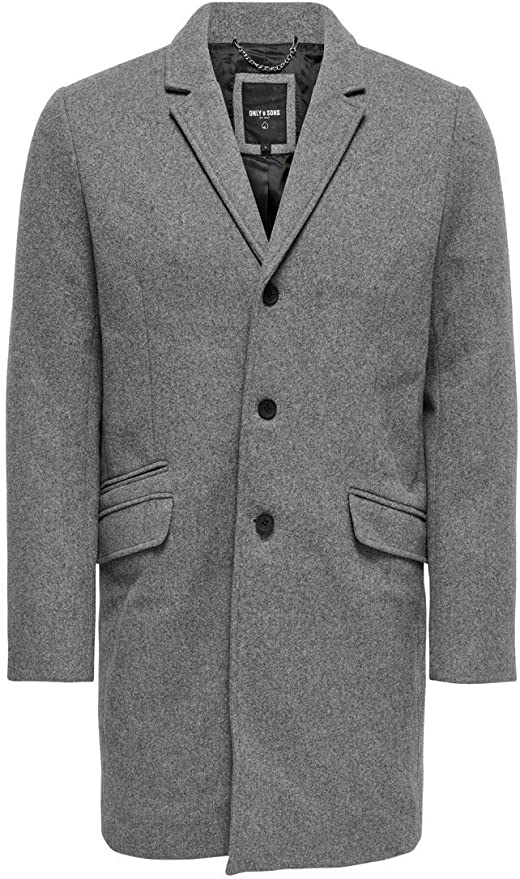 Only & Sons Onsjulian Solid Wool Coat Abrigo para Hombre