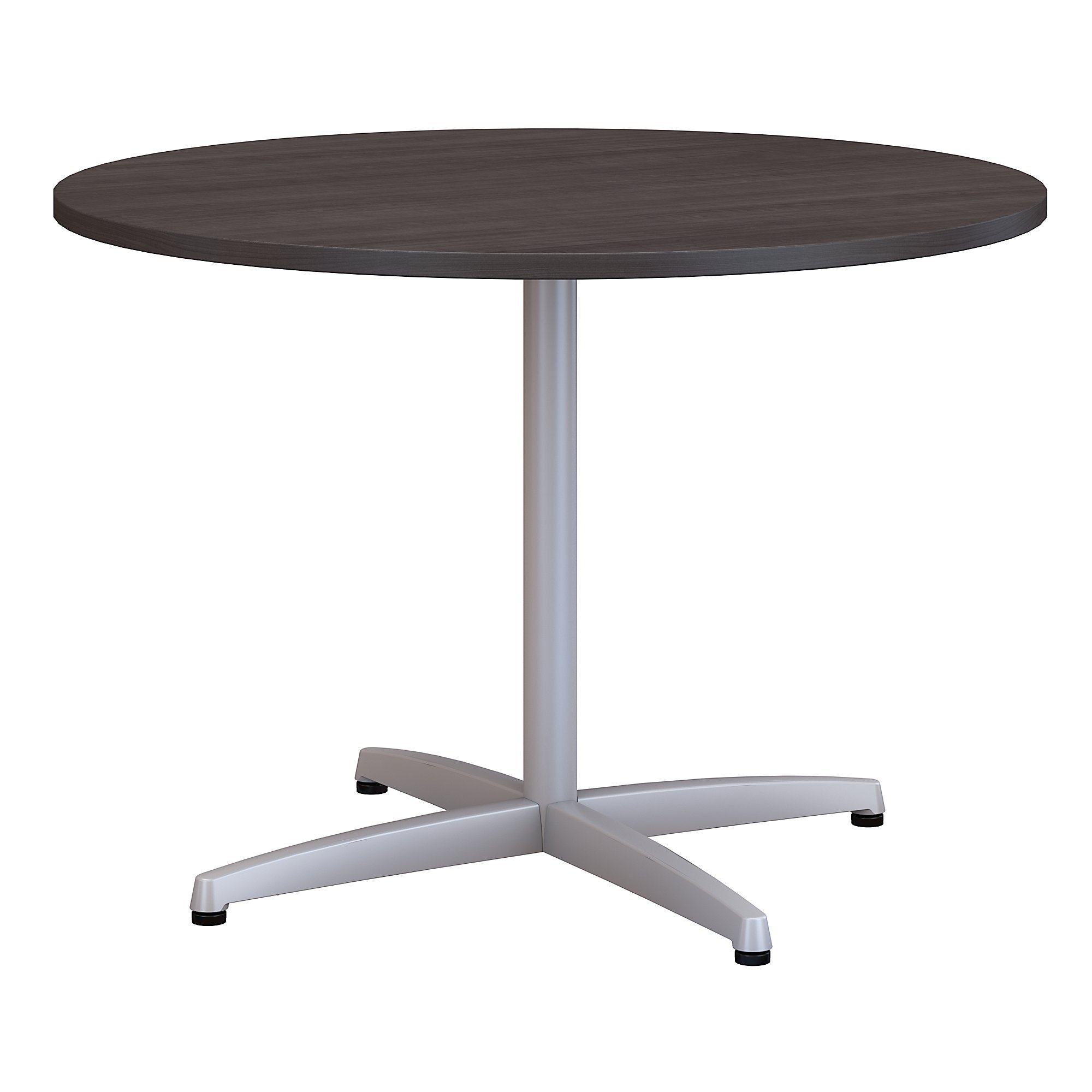 Bush Business Furniture 42W Round Conference Table with Metal X Base in Storm Gray by Bush Business Furniture