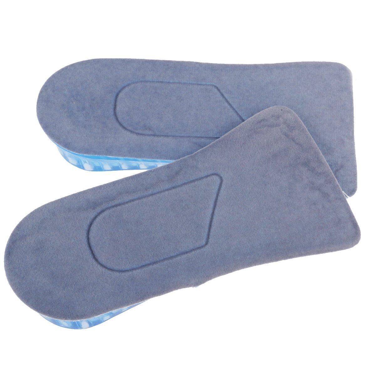 UEETEK Plantillas de aumento Plantillas Altura 3.7cm altura ajustable 2-capa Unisex de silicona tipo medio aumentado plantillas zapato Pads