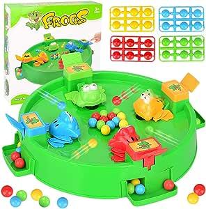 Juegos de Mesa 4 Ranas con Pelotas Juego de Juguete de alimentación Juguetes para niños Interacción Entre Padres e Hijos Juguete de Color Juguete Divertido Juego: Amazon.es: Deportes y aire libre