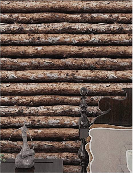 HaokHome 610863 Faux Wood Wallpaper 17.7