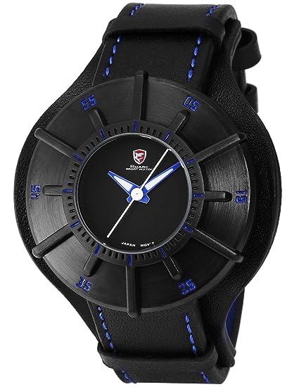 Shark SH485 Reloj Hombre Análogo Cuarzo de Cuero