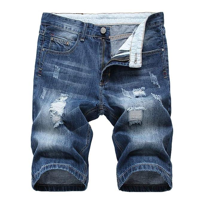 Amazon.com: Pantalones cortos de mezclilla de algodón para ...
