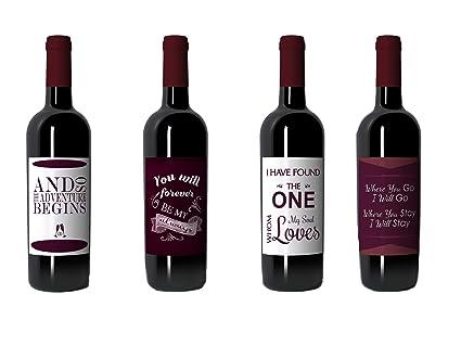 wine bottle labels for wedding bridal shower bachelorette gift or engagement party gift