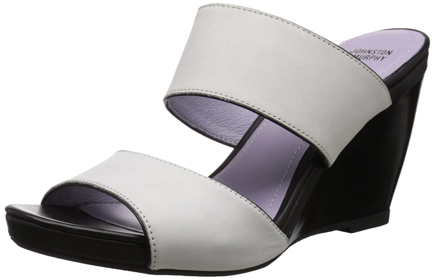 Johnston & Murphy Women's Nisha Wedge B(M) Slide Sandal B015GIL1LC 8.5 B(M) Wedge US|Off White 1ddffc