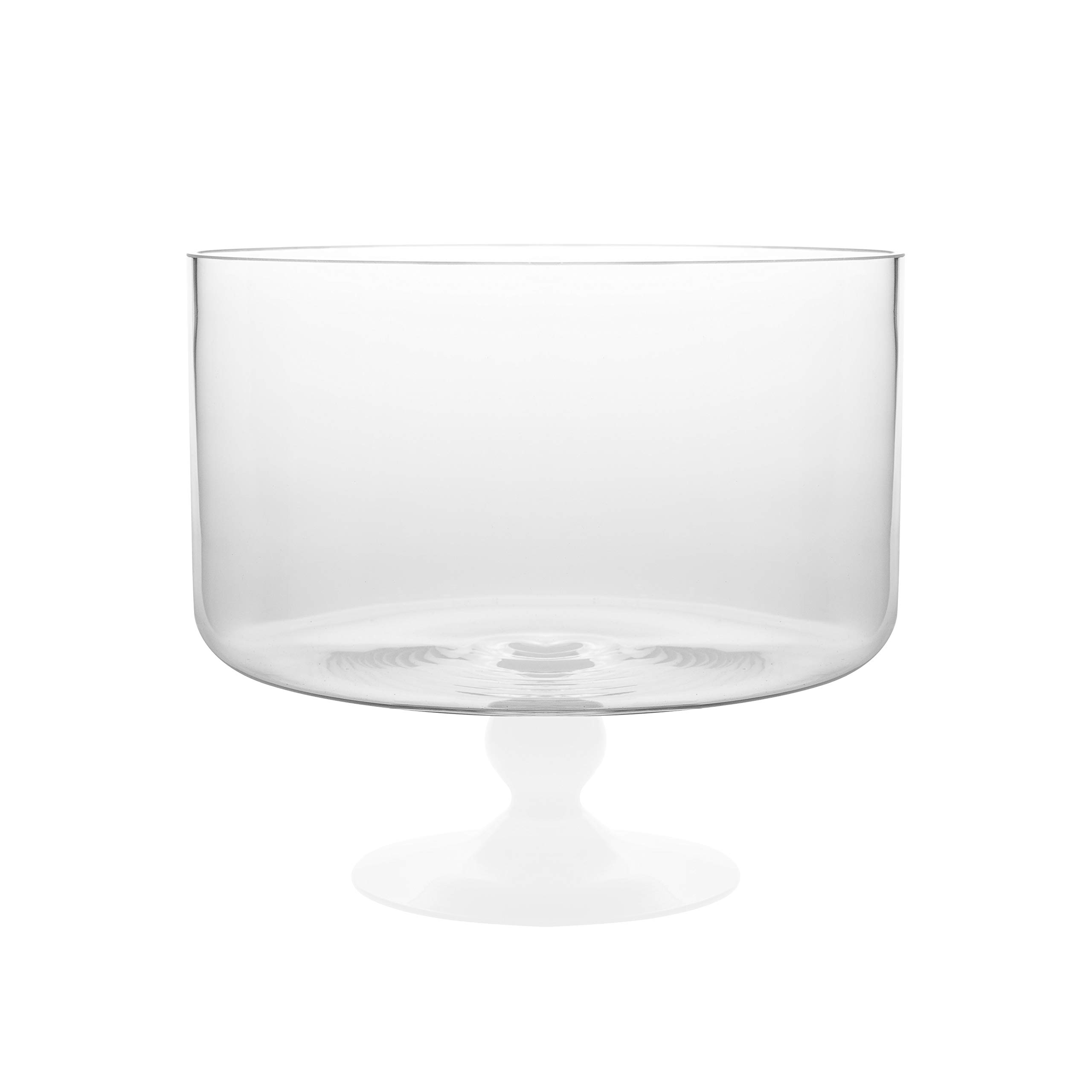 Barski - European Beautiful - Glass - Large Trifle Bowl - 9.25'' D - 170 oz - with Opal (white) Foot - Made in Europe by Barski (Image #2)