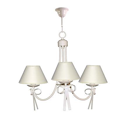 Lámpara infantil de techo de 3 luces color beige con detalle ...