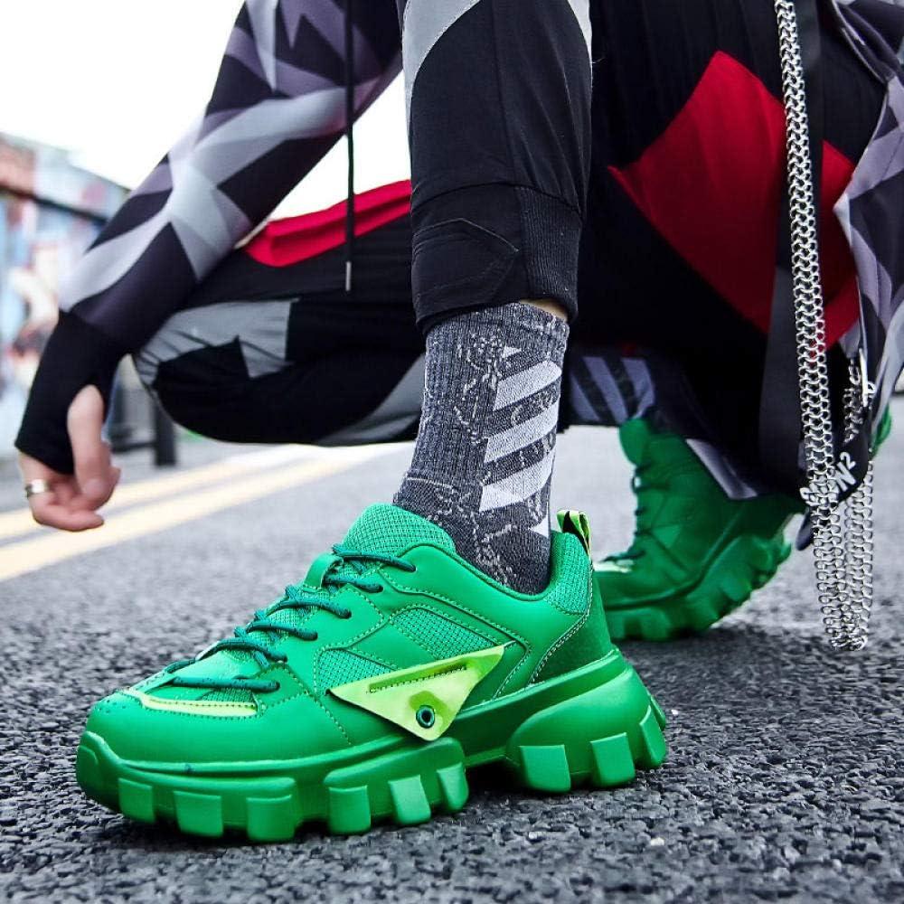 WFQGZ Scarpe da Uomo Casual Design di Tendenza Scarpe Sportive Scarpe Sportive da Uomo Scarpe Sportive Fondo Spesso green