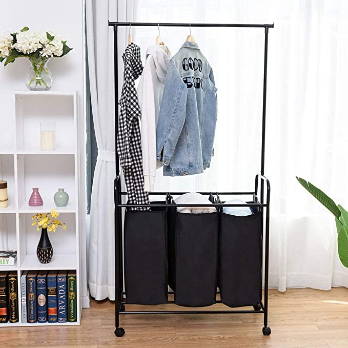 Amazon.com: TANGKULA - Perchero para la ropa sucia ...
