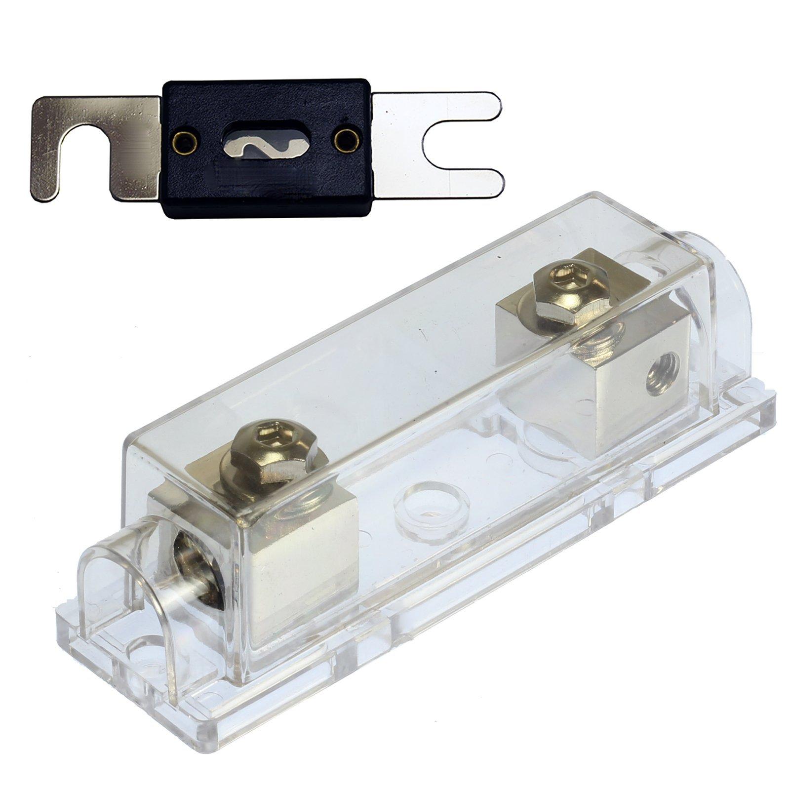 (1) 350 AMP ANL Fuse & (1) Inline Fuseholder Battery Install Kit 1/0 Gauge 1FT by 12voltnet (Image #2)