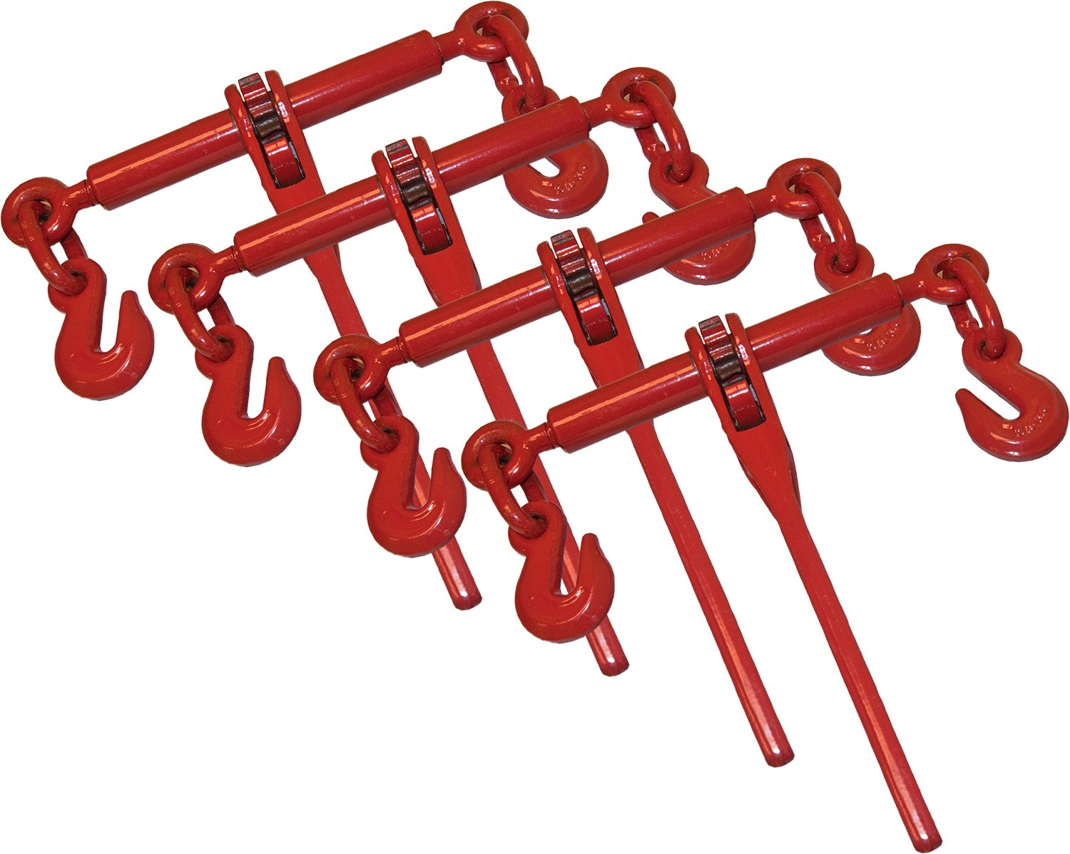 4 Piece Ratchet Load Binder 5/16''- 3/8'' Chain Binders Tie Down