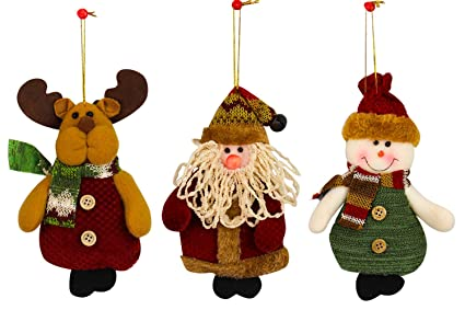 xadp xmas christmas hanging decoration snowman santa claus deer stuffed animal party decorations christmas gift - Christmas Hanging Decorations