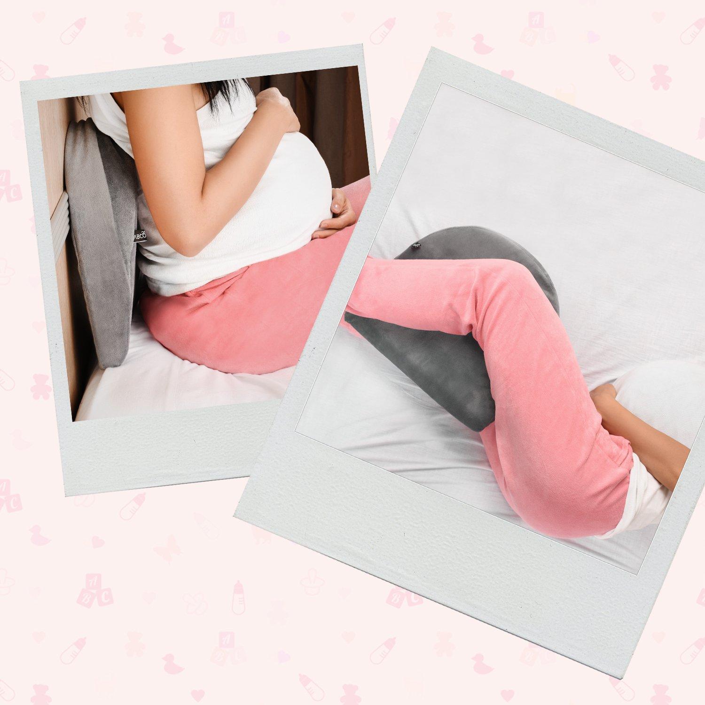 portable/et/confortable,/soulage la douleur Coussin inclin/é de grossesse mousse /à m/émoire de forme compact du dos housse lavable fort soutien/du ventre des jambes des hanches et des genoux
