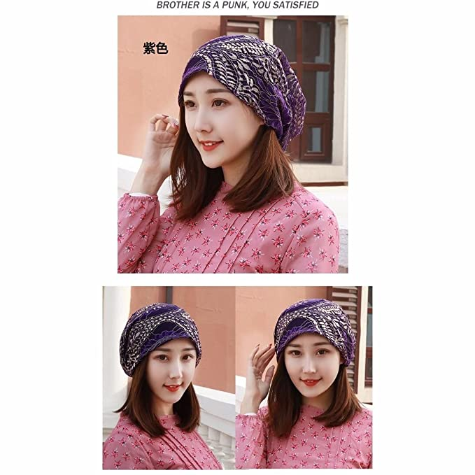Amazon.com  SAIBANGZI Hats Ladies Breathes Lace Hat Scarf Cap Drill  Pregnant Woman Hat Pile Hat Summer Air Conditioning Cap Thin Money. 2b729084b04a