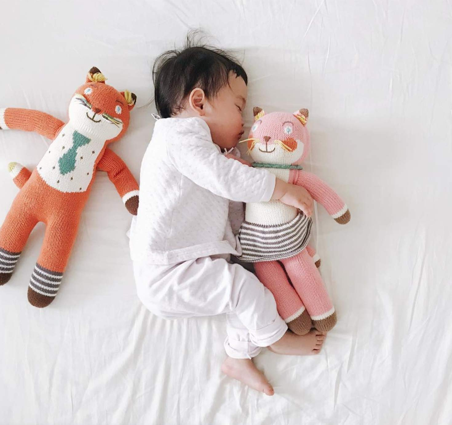 Blabla Suzette The Fox Mini Plush Doll - Knit Stuffed Animal for Kids. Cute, Cuddly & Soft Cotton Toy. Perfect, Forever Cherished. Eco-Friendly. Certified Safe & Non-Toxic. by Blabla