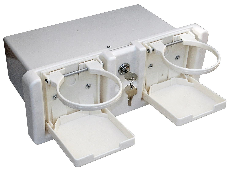 Marine Locking Glove Box Drink Holder//Storage Locker for Boat /& RV White BC 3105