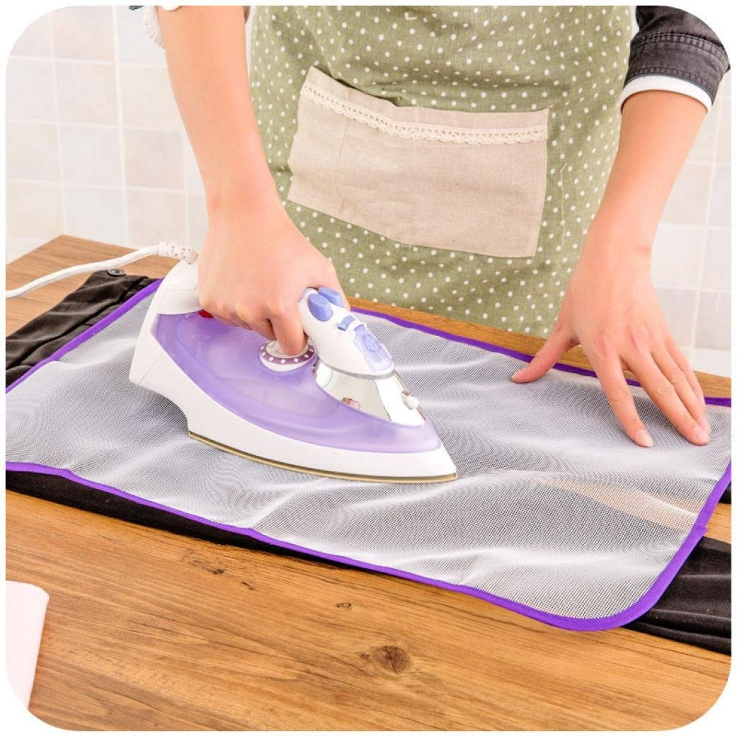 XShuai 1x Ironing Board Clothes Protector Insulation Garments Clothing Pad Laundry Polyester Mesh Cloth (Purple) Purple