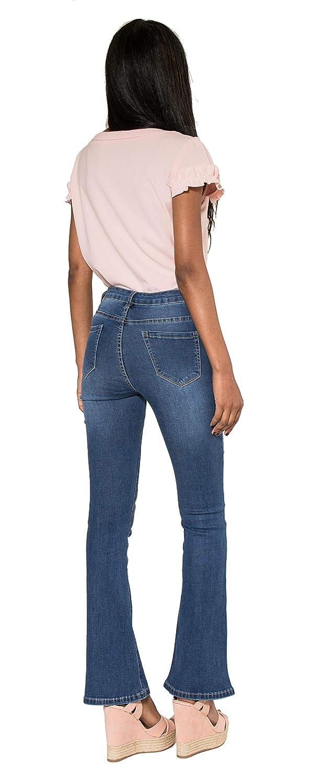 Vaqueros Skinny Straight O Boyfriend Pantalones Jeans Denim Azul Talla 34 A 42 Nina Carter Mujer Vaqueros Slim Bootcut Ropa Terenowiec Com
