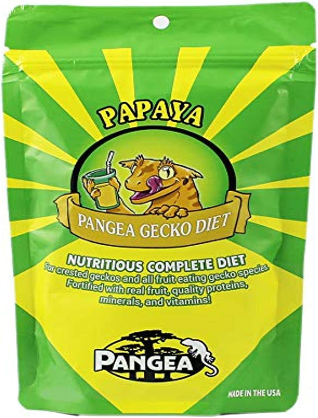 Pangea Papaya Fruit Mix Complete Crested Gecko Food, 2 Oz.