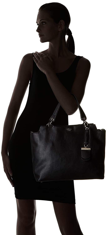 Guess Damen Andie Shopper, Schwarz (Nero), 14x32x44 cm