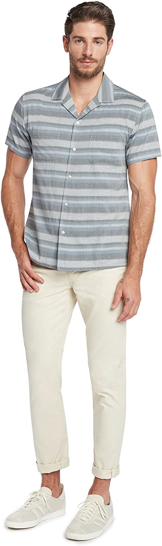 Life After Denim Mens Short Sleeve Slim Fit Poncho Cotton Camp Shirt