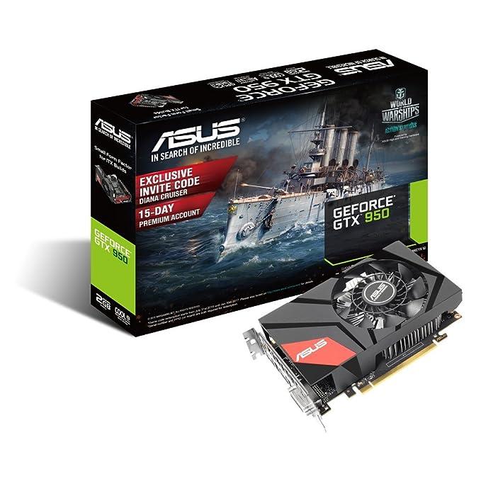 Amazon.com: ASUS GeForce GTX 950 2 GB Mini tarjeta gráfica ...