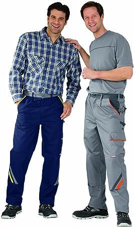 Planam 2423024 Visline pantalón de trabajo talla 24 en color azul marino/amarillo/cinc