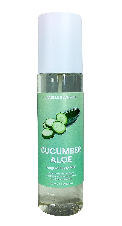 Camille Beckman Fragrant Body Mist, Alcohol Free, Cucumber Aloe, 8 Ounce