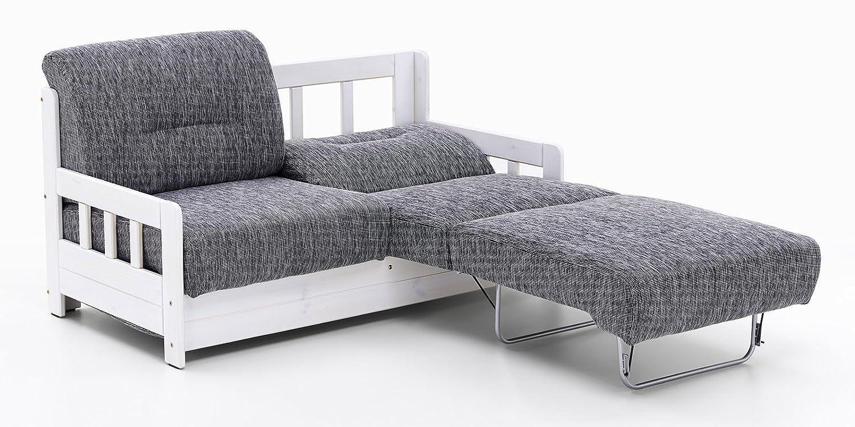 Schlafcouch weiß  Schlafsofa Campus Grau Weiß Stoff Sofa Couch Massiv Holz ...