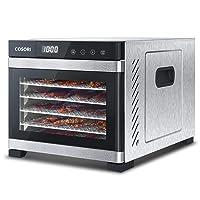 COSORI Premium Food Dehydrator Machine(50 Free Recipes), 6 Stainless Steel Trays...