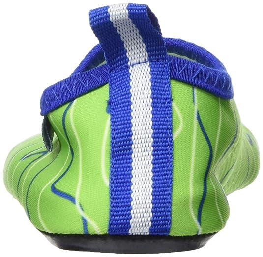 Playshoes Barfuß Schuh Wellen blaugrün