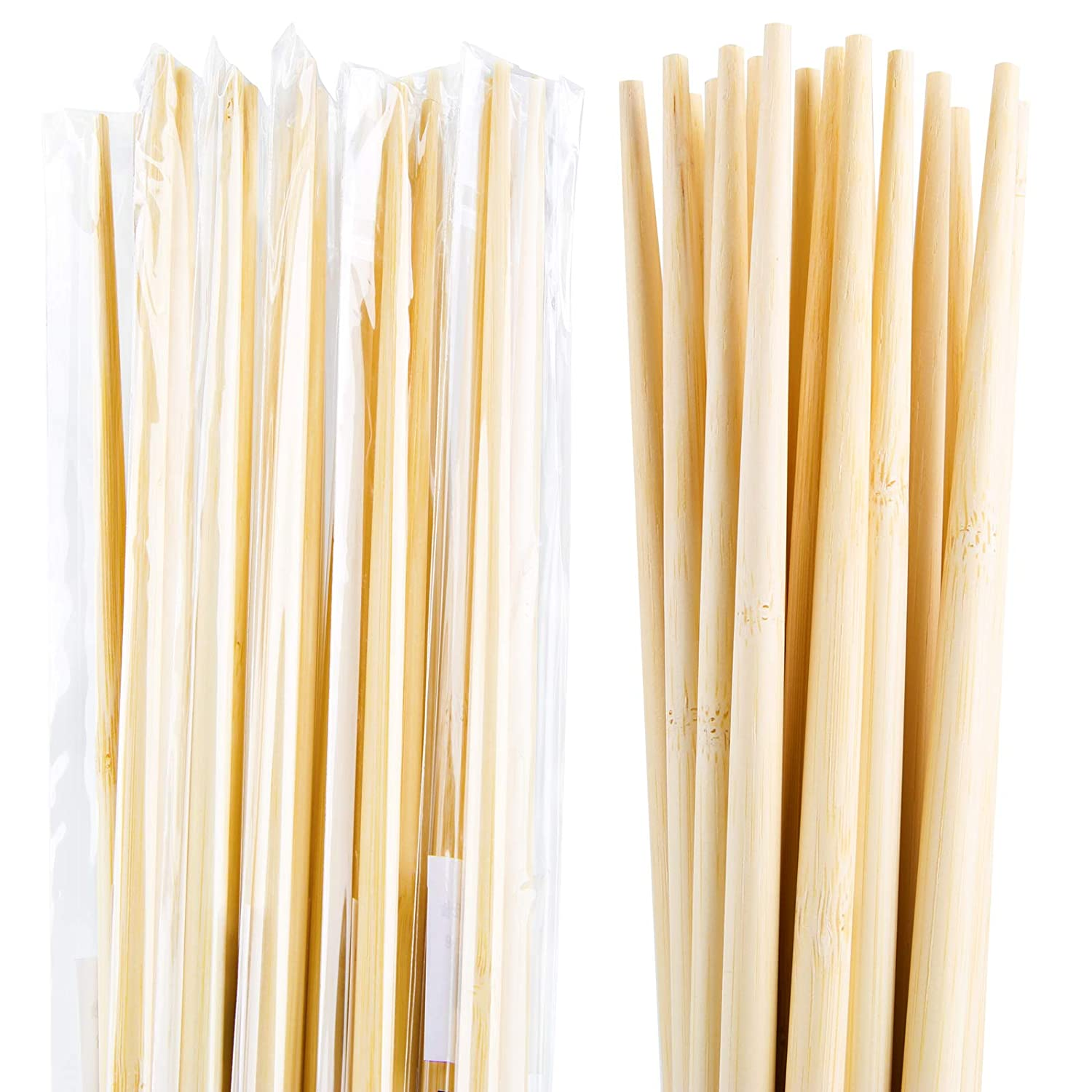 Individually Wrapped 10 Pairs 15 Inches Eco Friendly Bamboo Chopsticks for Cooking and Hot Pot