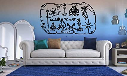 Amazon Com Pirate Wall Decals For Boys Room Pirate Ship