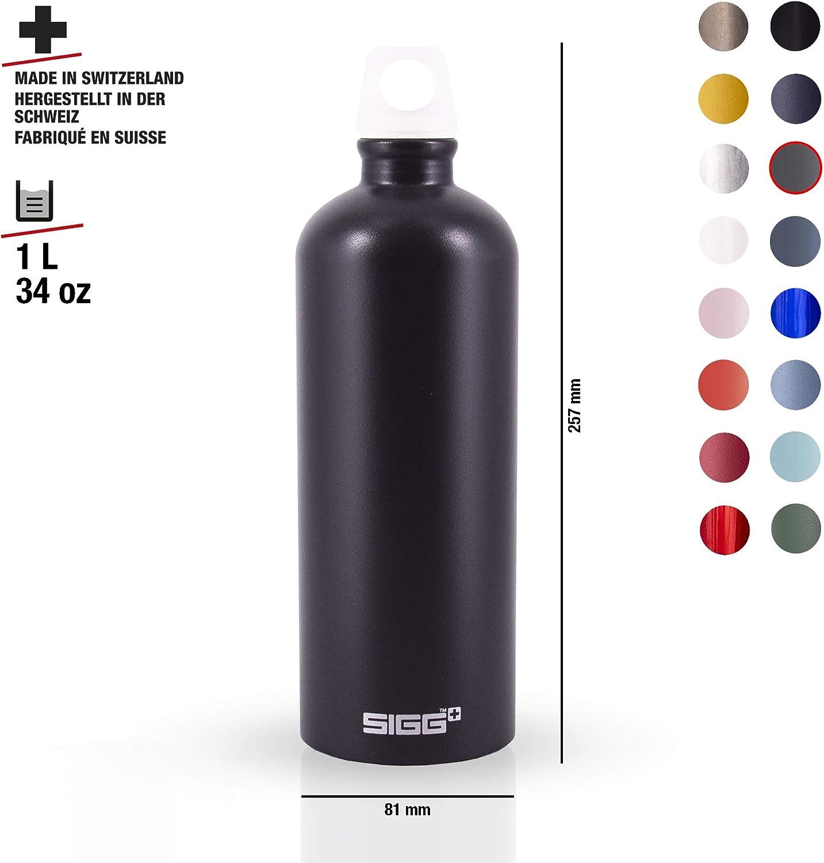 SIGG Lucid Shade Touch, Water Bottle, aluminium, BPA Free, Black - 34oz 61XwvHjxeZL