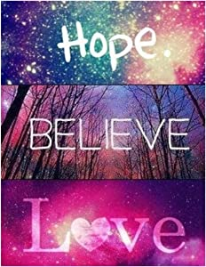 DIY 5D Handmade Diamond Painting Digital kit, Painting Cross Stitch Full Rhinestone Embroidery Picture Crafts Home Wall Decoration Gift(30x40cm) (Hope Believe Love)