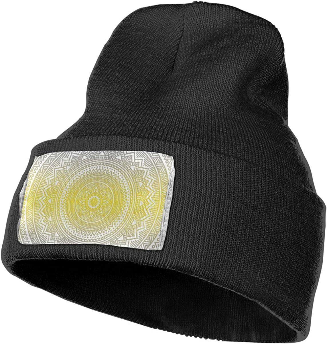 Xugui Grey and Yellow Beanie Hat Mens Womens Soft Warm Cap Personalized Skull Hats