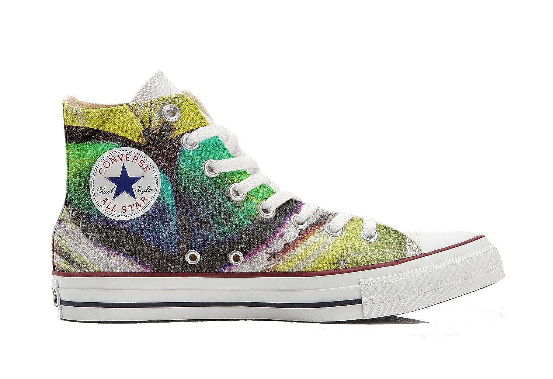 Converse All Star Hi Customized personalisierte Schuhe (Handwerk Schuhe) Mariposa