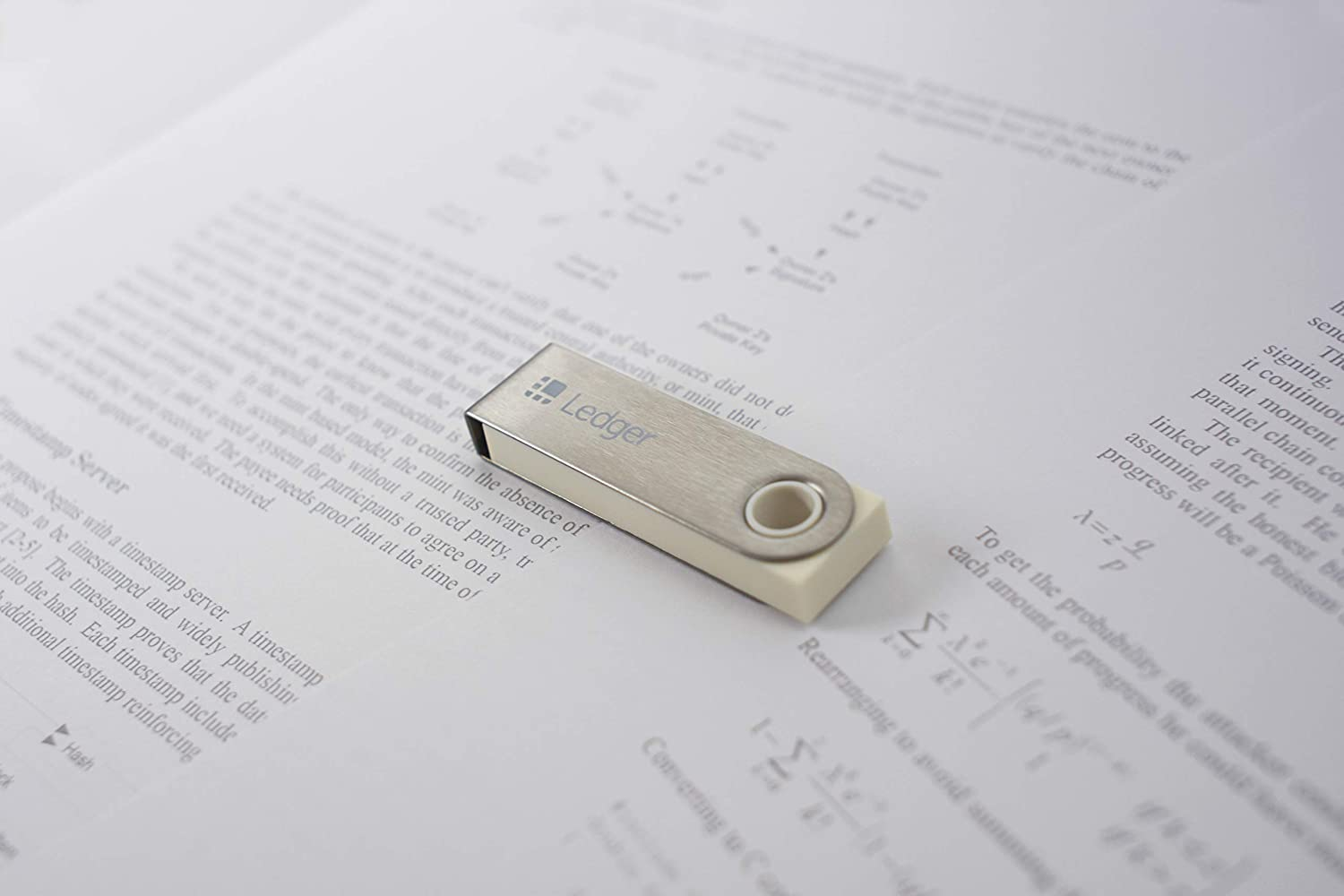 Ledger Nano S - V1.4 - White Paper Limited Edition - Monedero Hardware de criptomonedas - Bitcoin, Ethereum, XRC, Altcoins y Tokens ERC