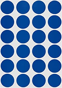ChromaLabel 3/4 Inch Round Permanent Color-Code Dot Stickers, 1008 Pack, 24 Labels per Sheet, Dark Blue