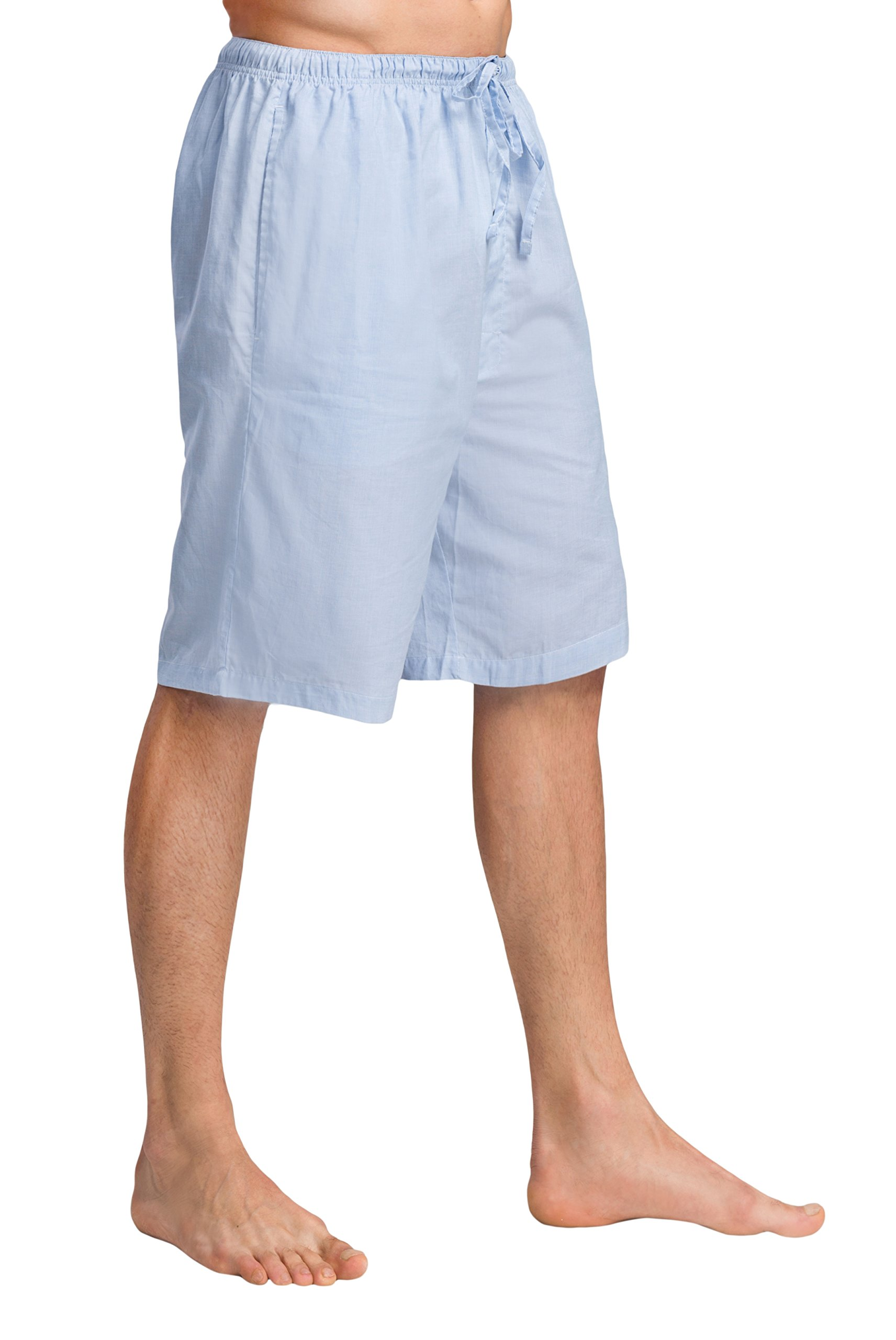 CYZ Men's 100% Cotton Plaid Poplin Woven Lounge/Sleep Shorts-F1718-M
