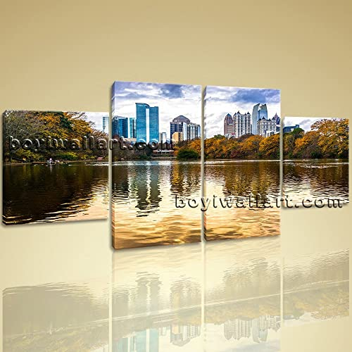 Amazon.com: Large Atlanta Ga Skyline Landscape Wall Dining Room Four ...
