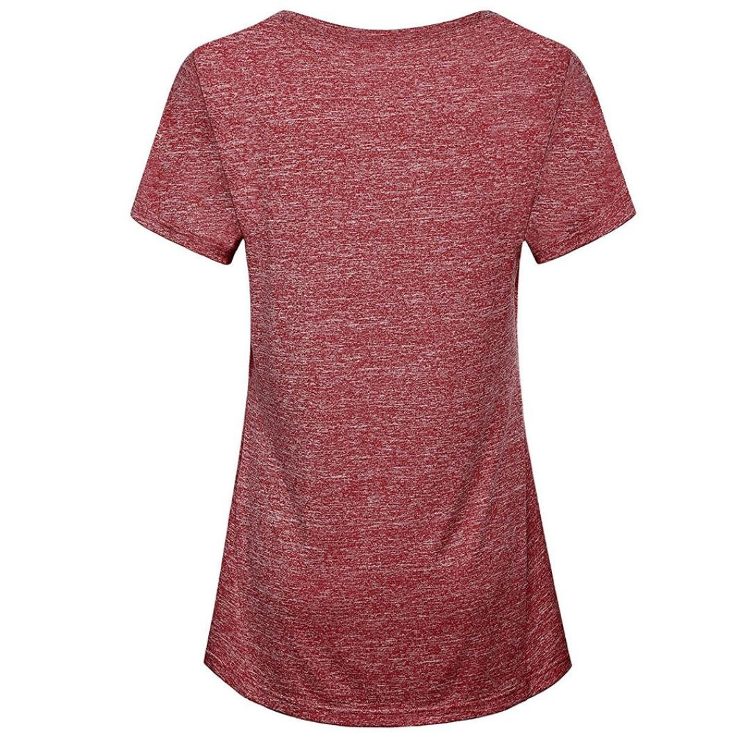 d24a7a2a1a3 Challyhope Womens Short Sleeve Yoga Tunic Tops Activewear Running Workout T- Shirt at Amazon Women s Clothing store