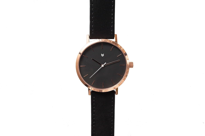 Squadron Watch Uhr Midnight Rose Herren Armbanduhr OR6 Leder 43mm