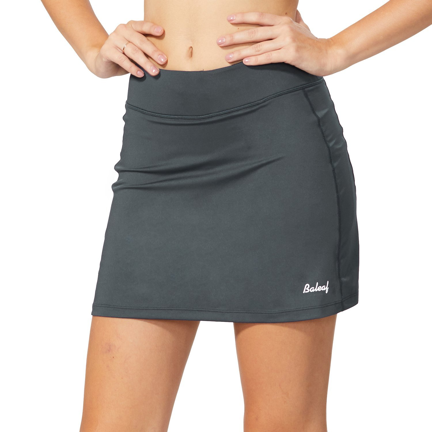 BALEAF Women's Active Athletic Skort Lightweight Skirt with Pockets for Running Tennis Golf Workout Gray Size L by BALEAF