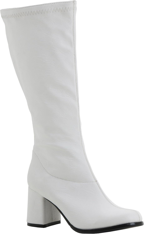 Childrens White Patent Go Go Boots