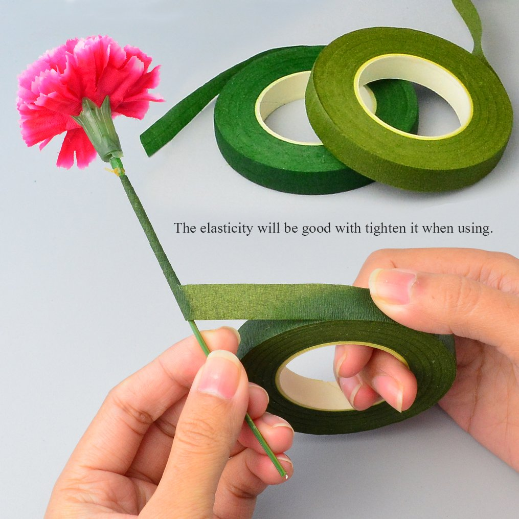 4.7 Wire Cutter 6 Rolls Floriculture Paper Tapes 26 Gauge Floral Wire /& 16 inch Floral Stem Wire for Bouquet Stem Wrap Florist Bantoye 9 Pcs Floral Arrangement Tool Kit