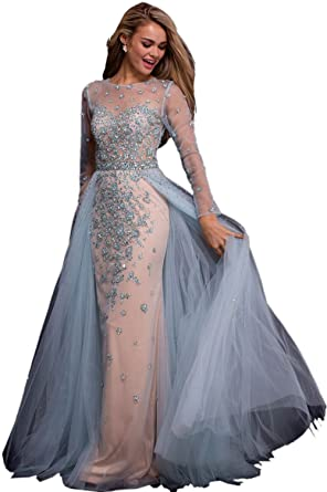Jovani Prom 2018 Dress Evening Gown Authentic 53743 Long Light Blue ...